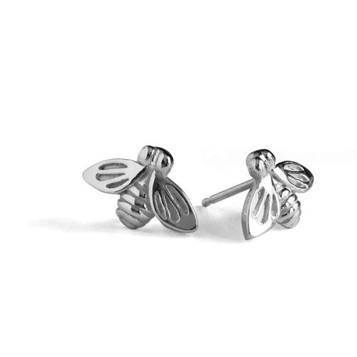 Betsy Frost Sterling Silver Bee Post Earrings