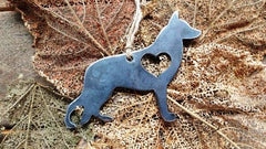 BE Creations Steel German Shepard Ornament