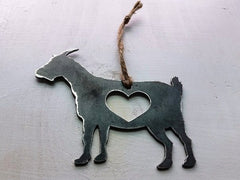 BE Creations Steel Goat Ornament