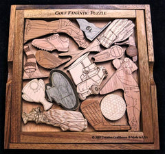 Creative Crafthouse Golf Fanatic Picture Frame Puzzle