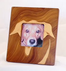 Grant-Noren Hand Painted Faux Finish Dog Picture Frame