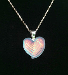 Matt Bezak Glass Winged Heart Pendant Set in Sterling Silver
