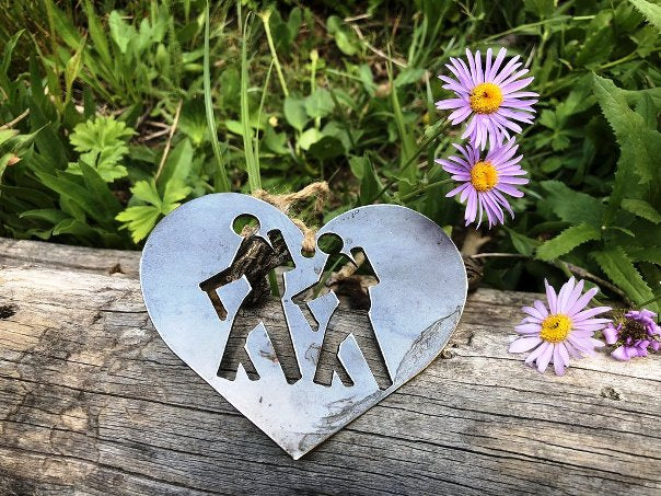 BE Creations Steel Hikers Ornament