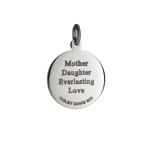 Colby Davis Sterling Small Mother Daughter Pendant