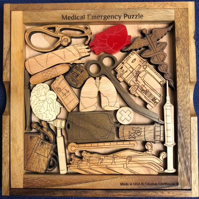 Creative Crafthouse Medical Emergency Wood Picture Frame Puzzle