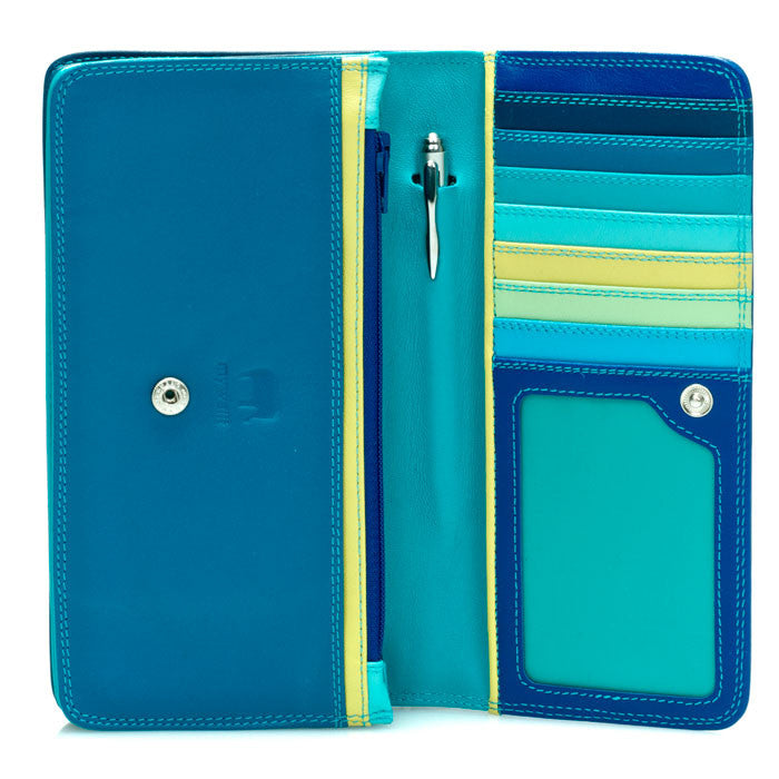 mywalit leather medium matinee wallet in seascape