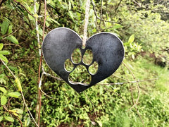 BE Creations Steel Dog Paw Ornament