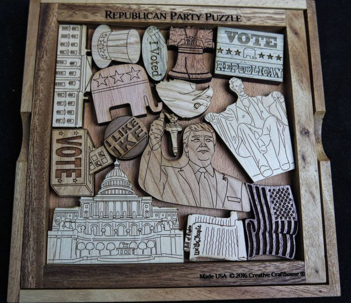 Republican Party Picture Frame Puzzle