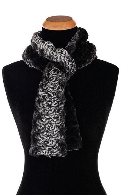 Skinny Scarf in Smoky Essence & Black