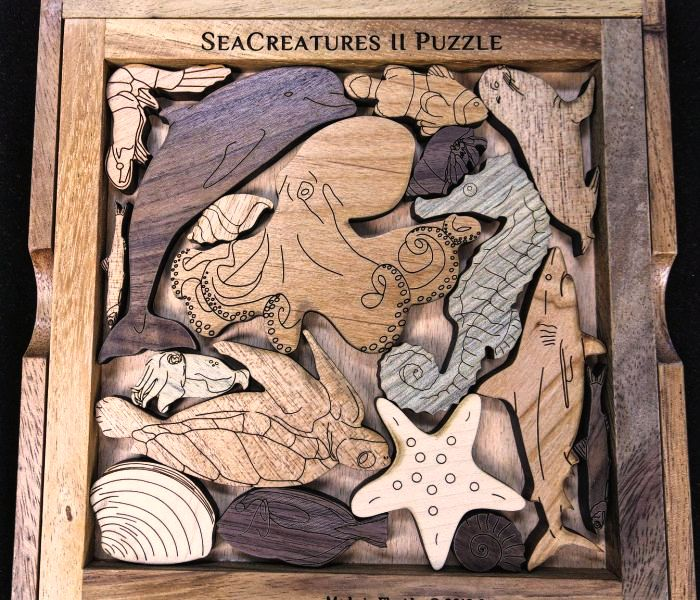 Creative Crafthouse Wood Sea Creatures 2 Picture Frame Puzzle