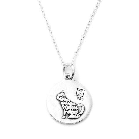 Kevin n' Anna Cat Small Quotes Necklace