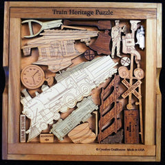 Creative Crafthouse Wood Train Heritage Picture Frame Puzzle