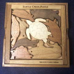 Creative Crafthouse Wood Turtle Creek Picture Frame Puzzle
