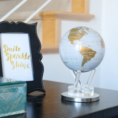 White and Gold MOVA Globe