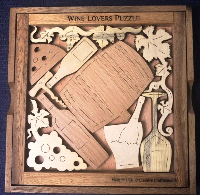 Creative Crafthouse Wine Lovers Picture Frame Puzzle