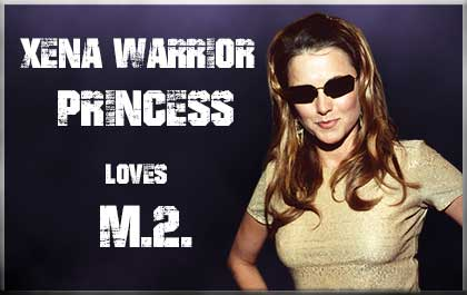 Xena Warrior Princess wearing matrix sunglasses