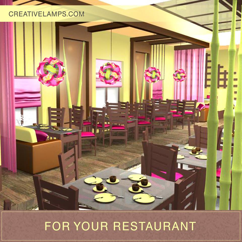 Lamps for restaurant