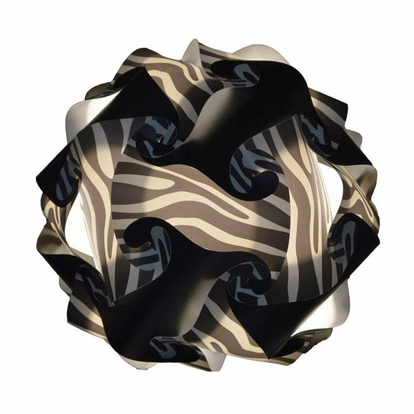 Printed Kit Zebra / Black  Puzzle Lamp 3D IQ Lights
