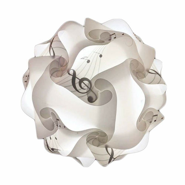 Printed Kit Music notes / White Puzzle Lamp 3D Puzzle IQ lights