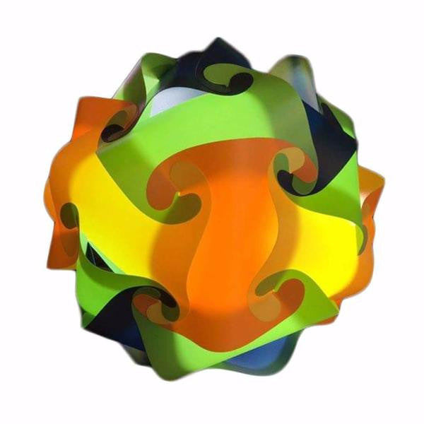 Mixed Kit Orange / Yellow /Green / Blue Puzzle Lamp 3D Puzzle IQ lights