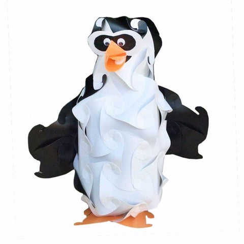 Cartoon Penguin  Puzzle light 3D IQ Lamps
