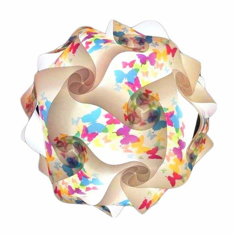 Printed Kit Butterfly / White  Puzzle Lamp 3D IQ lights
