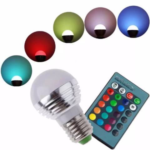 Accessories RGB LED 3w16 Color LightBulb with remote control