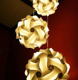 Single 1 White Cream  Color Lamps Puzzle Lights 3D IQ lights