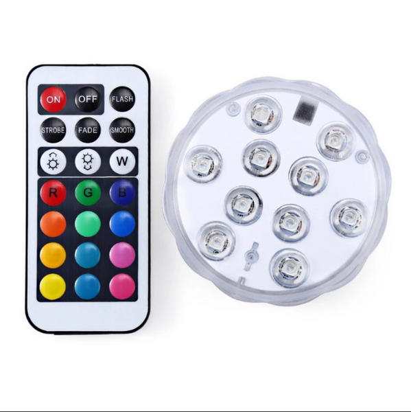 Accessories RGB LED 10w16 Battery Operated Color Waterproof / Underwater  bulb with remote control