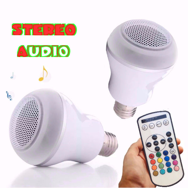 Accessories RGB+White 11W LED Stereo audio Bluetooth SpeakerBulb