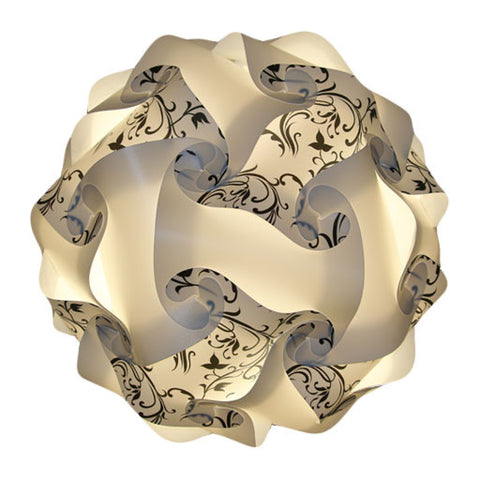Printed Kit  Art Deco / White Puzzle Lamp