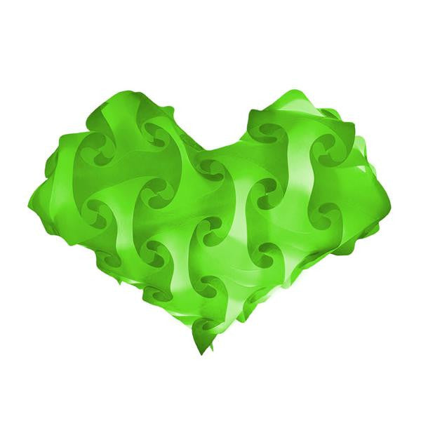 Heart Green Single Color Lamps Puzzle Lights