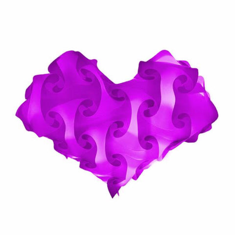 Heart Purple Single Color Lamps Puzzle Lights
