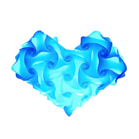 Heart Light Blue Heart Puzzle Lights 3D IQ Lamps