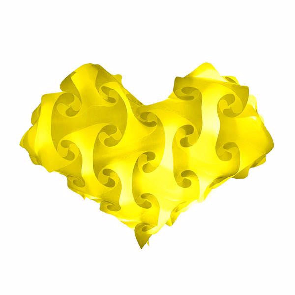 Heart Yellow Single Color Lamps Puzzle Lights
