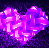 Heart 1 White Single Color Puzzle Lights 3D IQ lights