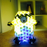Cartoon 360 pices modul design Minion Puzzle Lamp yellow