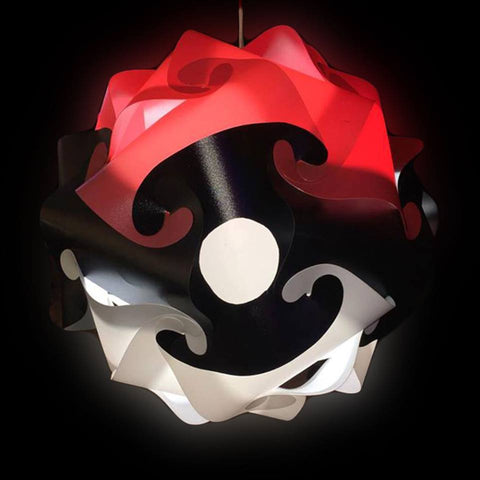 Cartoon Poke Ball shape Puzzle Lights 3D IQ Lamp