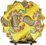 Printed Kit Starburst / Yellow  Puzzle Lamp