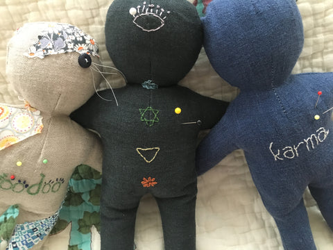 Bolt & Spool's voodoo, chakra and karma dolls