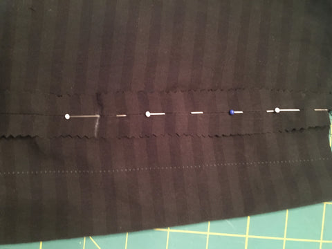 Stitching the inverted box pleat on the Study Hall Skirt