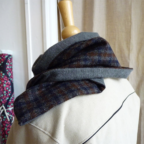 wool flannel cowl