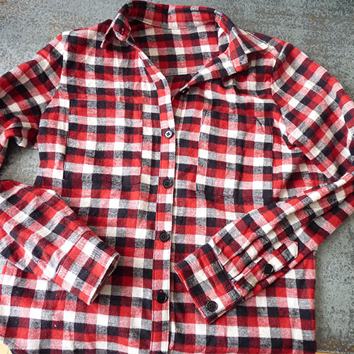 plaid flannel grainline archer shirt