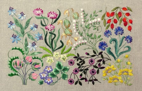 Canevas Foiles embroidery from The French Needle