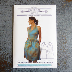 Rose City Halter dress pattern front