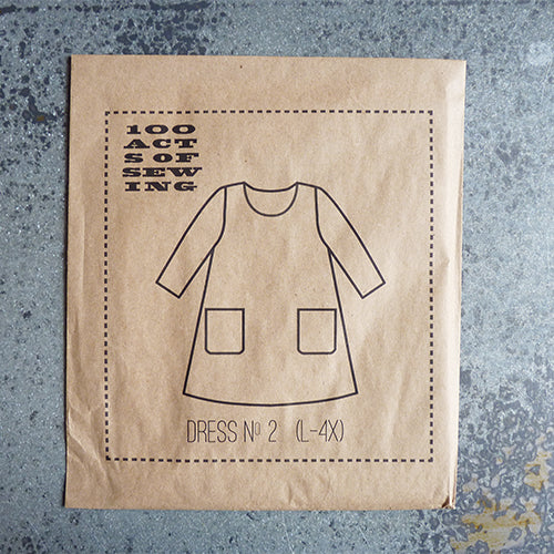 100 acts of sewing pattern dress number 2