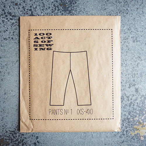 100 acts of sewing pants sewing pattern