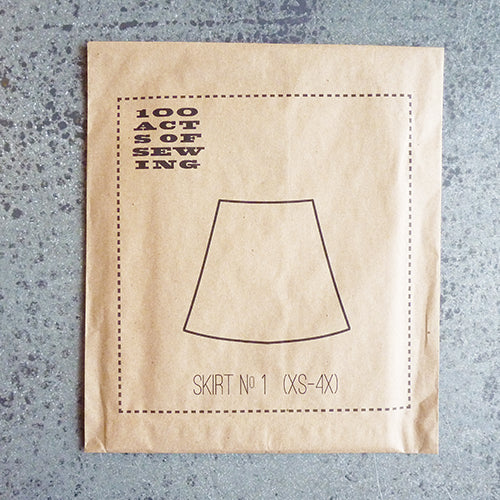 100 acts of sewing pattern skirt 1