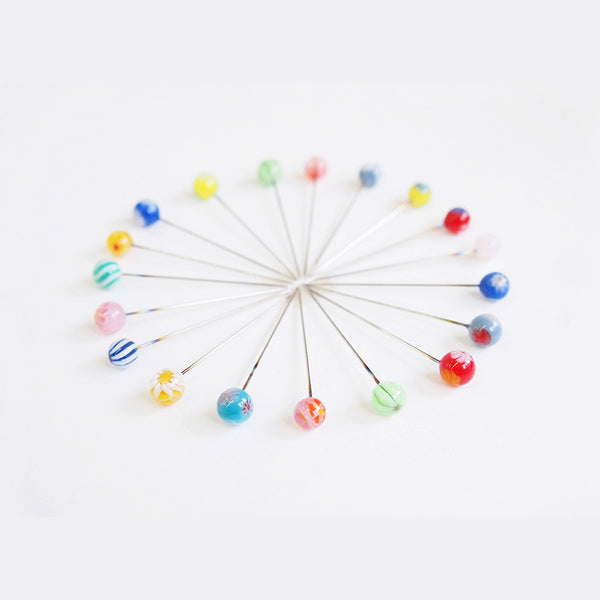 Cohana Glass Bead Pins