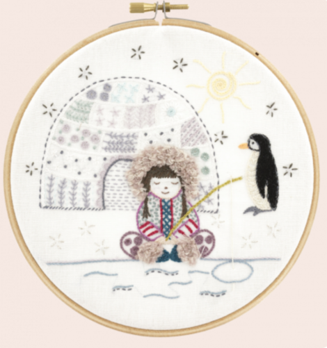 Un Chat Embroidery Kit: Naiko the Eskimo